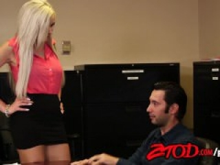 Nina Elle fucks at the office