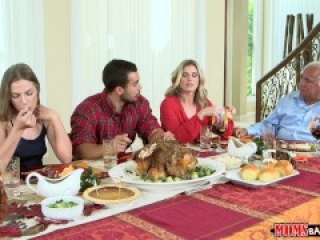 Fucking your girlfriend and her mom on Thanksgiving