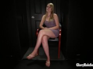 Summer Carter has fun at the gloryhole
