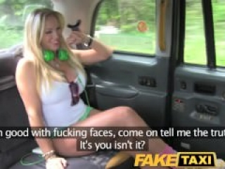 Rebecca More gets an anal ride in the FakeTaxi