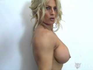 Cougar gets naked and works out