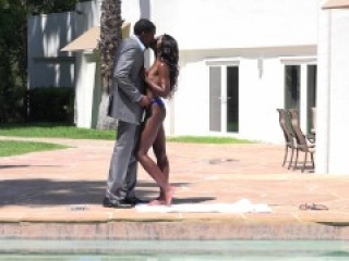Ebony princess seduces her step brother