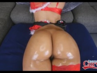 Latina Demi Lopez bounces her ass on big cock for the holiday
