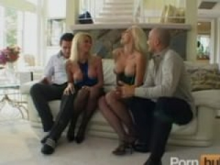 Pornstar foursome fun